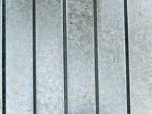 Superficie di metallo coperta di zinco Fotografia Stock Libera da Diritti