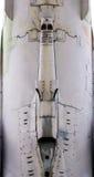 Superficie di metallo degli aerei con alluminio ed i ribattini Immagine Stock