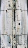 Superficie di metallo degli aerei con alluminio ed i ribattini Fotografie Stock Libere da Diritti