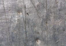 Superficie di metallo graffiata Gray Fotografia Stock