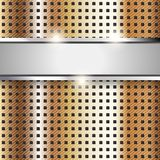 Superficie di metallo, priorità bassa di rame di struttura del ferro Fotografie Stock Libere da Diritti