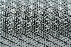 Superficie di metallo scanalata Fotografia Stock Libera da Diritti
