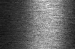 Superficie di metallo spazzolata lucida Immagine Stock