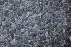Superficie di pietra nera di struttura Immagini Stock Libere da Diritti