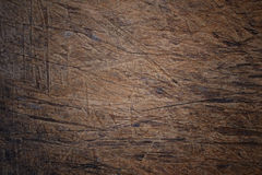 Superficie di vecchio legno graffiato Fotografia Stock Libera da Diritti