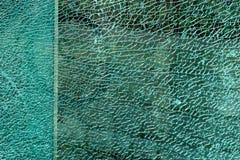 Superficie di vetro fratturata Fotografia Stock