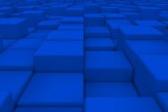 Superficie diagonal hecha de cubos Fotografía de archivo