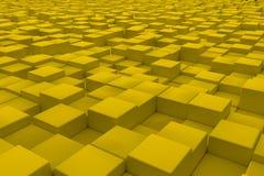 Superficie diagonal hecha de cubos amarillos Fotos de archivo