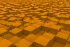 Superficie diagonal hecha de cubos anaranjados Imagenes de archivo