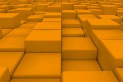 Superficie diagonal hecha de cubos anaranjados Fotografía de archivo libre de regalías