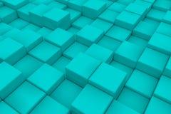 Superficie diagonal hecha de cubos ciánicos Imágenes de archivo libres de regalías