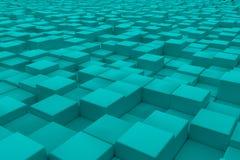 Superficie diagonal hecha de cubos ciánicos Fotografía de archivo libre de regalías