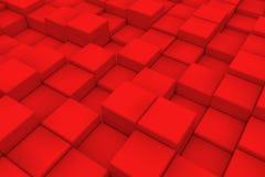 Superficie diagonal hecha de cubos rojos Fotos de archivo libres de regalías