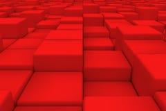 Superficie diagonal hecha de cubos rojos Foto de archivo libre de regalías
