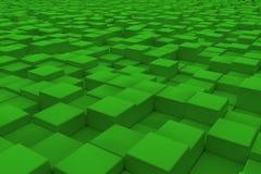 Superficie diagonal hecha de cubos verdes Fotografía de archivo libre de regalías