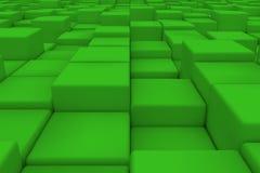 Superficie diagonal hecha de cubos verdes Foto de archivo libre de regalías
