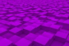 Superficie diagonal hecha de los cubos violetas Fotos de archivo