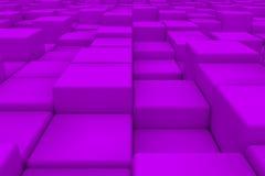 Superficie diagonal hecha de los cubos violetas Fotografía de archivo