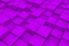 Superficie diagonal hecha de los cubos violetas Imagen de archivo libre de regalías