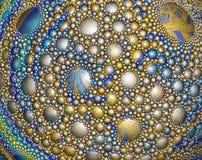 Superficie esférica abstracta cubierta con descensos y bubbl coloridos libre illustration