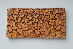 Superficie floreale della parete Fotografie Stock