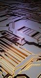 Superficie futuristica di basso poli elementi e parti illustrazione nello stile di isometry Fondo royalty illustrazione gratis