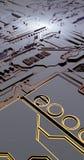 Superficie futuristica di basso poli elementi e parti illustrazione nello stile di isometry Fondo illustrazione di stock