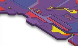 Superficie futuristica di basso poli elementi e parti Illustrazione di vettore nello stile di isometry Fondo illustrazione vettoriale