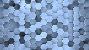 Superficie geometrica astratta di un esagono rappresentazione 3d royalty illustrazione gratis