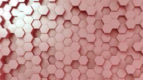 Superficie hexagonal rosada almacen de metraje de vídeo