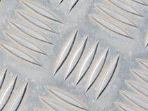 Superficie impressa argento metallico Fotografia Stock Libera da Diritti