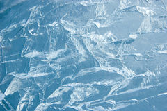 Superficie incrinata del ghiaccio (priorità bassa, struttura) immagini stock libere da diritti