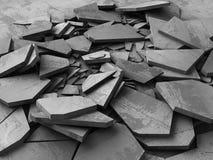 Superficie incrinata di buio di demolizione concreta Fotografia Stock Libera da Diritti
