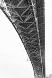 Superficie inferior de Aurora Bridge - Seattle Imagen de archivo libre de regalías