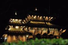 Superficie laterale della pagoda nepalese, Brisbane immagine stock libera da diritti