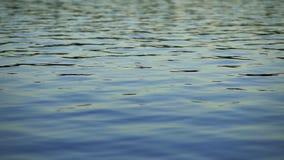 Superficie lenta del lago almacen de metraje de vídeo