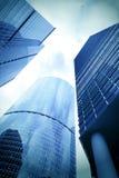 Superficie lisa de edificios modernos panorámicos Fotografía de archivo libre de regalías