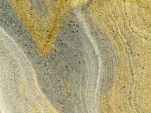 Superficie lisa de la roca acodada del sedimento de la piedra arenisca Imagen de archivo libre de regalías