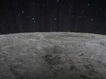 Superficie lunar foto de archivo
