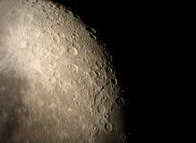 Superficie lunare Immagine Stock