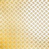 Superficie metálica de oro Fotos de archivo