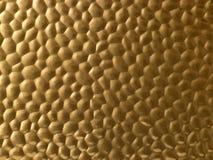Superficie metálica Textured del oro Imágenes de archivo libres de regalías