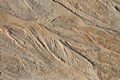Superficie mojada abstracta de la arena imágenes de archivo libres de regalías