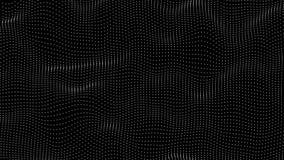 Superficie morphing mínima abstracta del punto en lazo inconsútil stock de ilustración