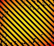 Superficie negra y anaranjada del Grunge como modelo viejo, fondo de la advertencia o del peligro Foto de archivo