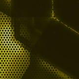 Superficie nera e gialla dell'alluminio Fondo geometrico metallico di struttura Fotografie Stock