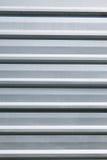 Superficie ondulata bianca di struttura del metallo Immagini Stock