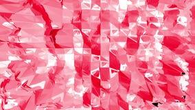 Superficie oscilante polivinílica baja atractiva o rosada como ambiente de la fantasía Ambiente vibrante geométrico poligonal roj stock de ilustración
