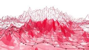 Superficie oscilante polivinílica baja atractiva o rosada como ambiente de la matemáticas Ambiente vibrante rojo del mosaico poli stock de ilustración