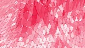 Superficie oscilante polivinílica baja atractiva o rosada como ambiente de transformación Ambiente vibrante geométrico poligonal  ilustración del vector